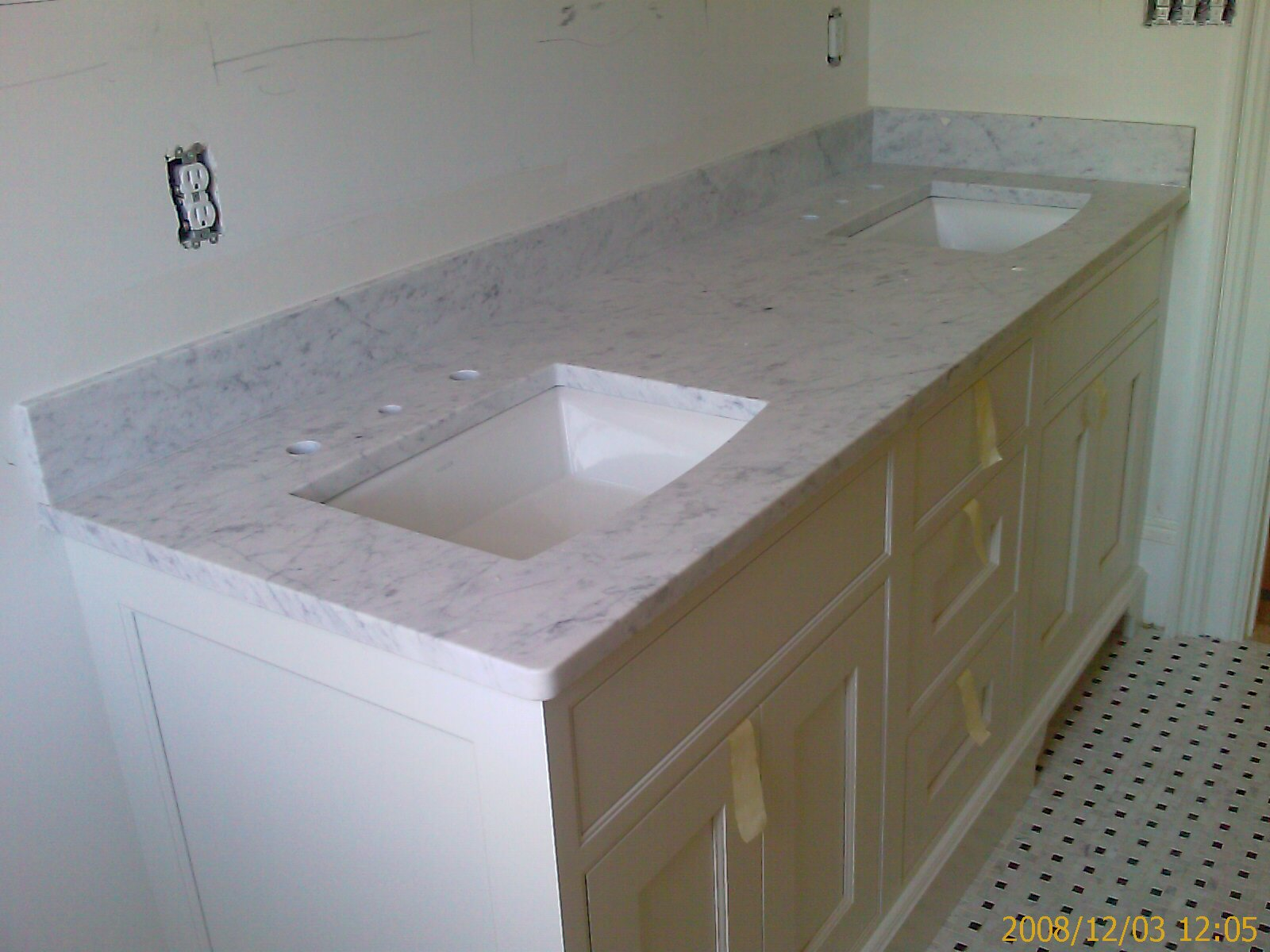 balticbrown x model top vanity brown bathroom spread baltic tops vanitytops granitetops lesscare catalog granite